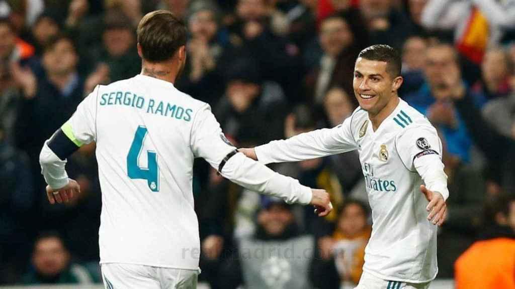 Sergio Ramos felicita a Cristiano Ronaldo