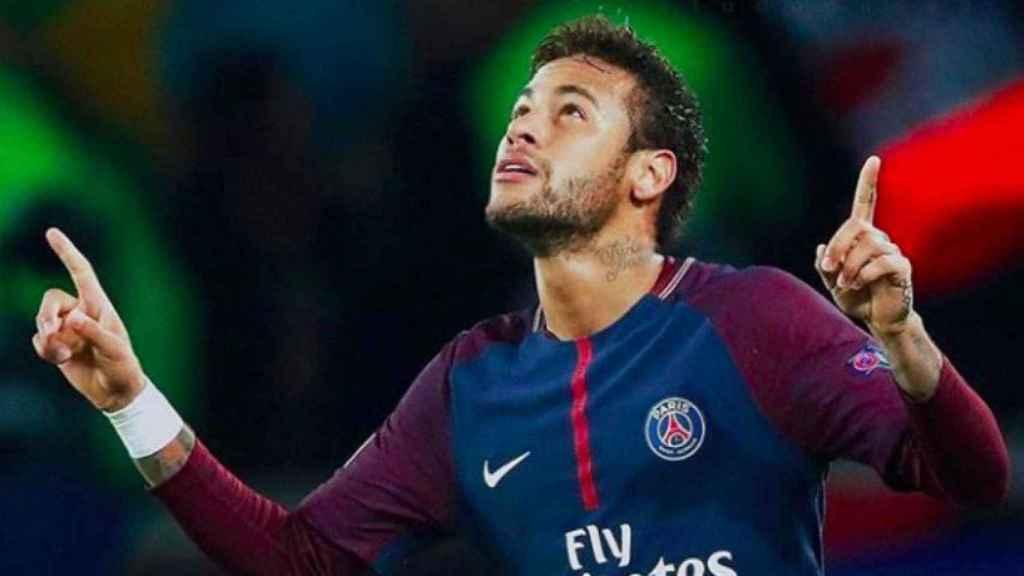 Neymar celebra con el PSG. Foto Instagram (@neymarjr)