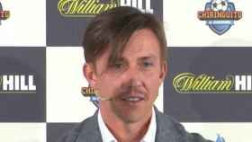 Guti, en un acto de El Chiringuito y William Hill