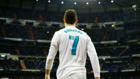 Cristiano Ronaldo celebra su gol. Fotógrafa: Virginia López / El Bernabéu
