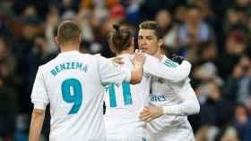 La BBC, en un partido del Real Madrid.