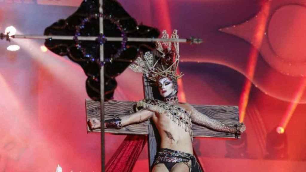 La Drag Queen Sethlas durante su polémica actuación del pasado año