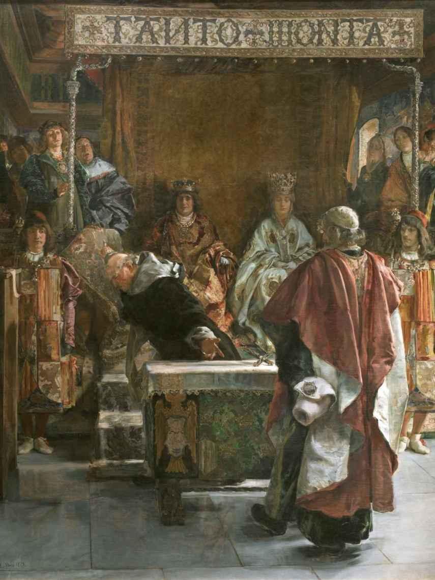 Emilio Sala pintó esta expulsión de los judíos, en 1889, en El Prado.