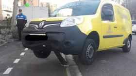 Valladolid-bolardo-accidente-policia