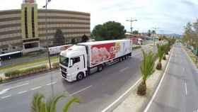 Un camión de distribución de la empresa 'El Pozo'.