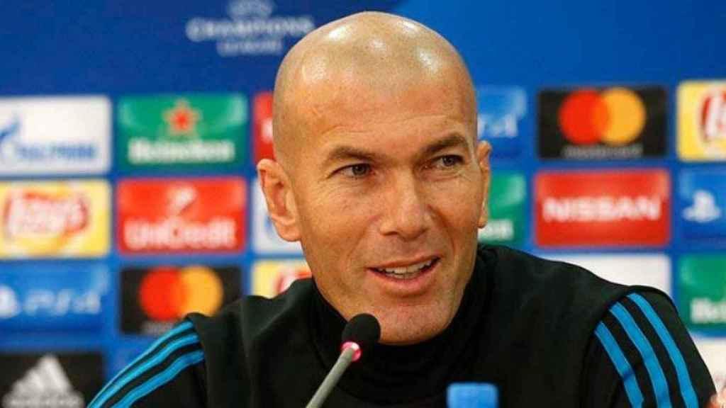 Zidane comparece en la rueda de prensa previa al duelo contra el APOEL