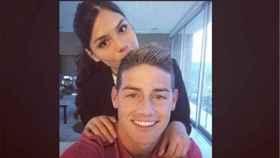 Juana Valentina Restrepo con James Rodríguez. Foto: Instagram (@juanavr98)