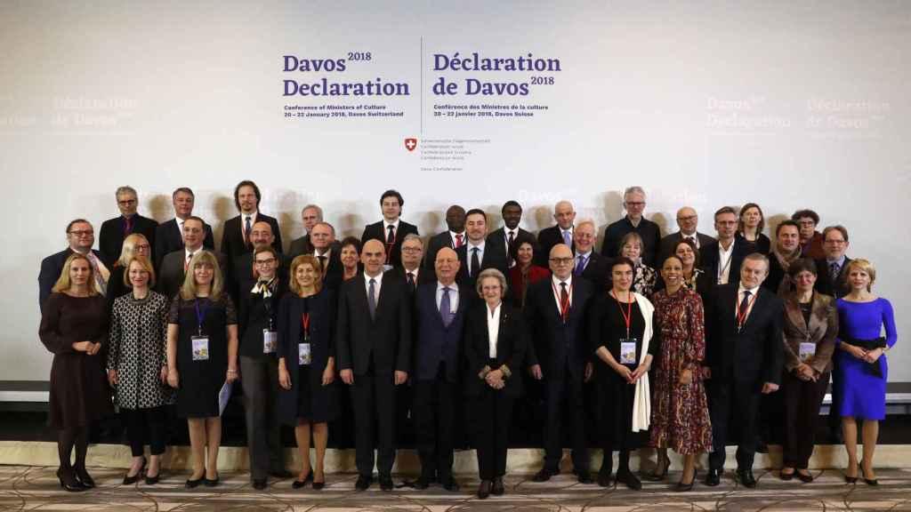Los ministros de Cultura europeos, en Davos, sin Méndez de Vigo.