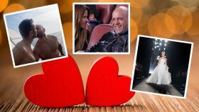Los famosos celebran San Valentín.