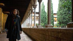 Colau, en el monasterio de Pedralbes.