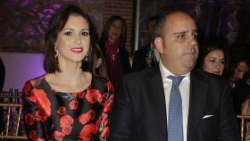 María Jesús Ruiz y Julio Ruz cuando presentaron a su hija.