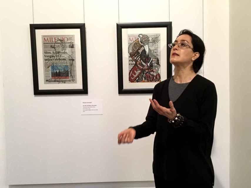 Avelina Lésper muestra su exposición del Museo de América.