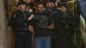 Igor el Ruso a su salida de los juzgados de Alcañiz (Teruel).