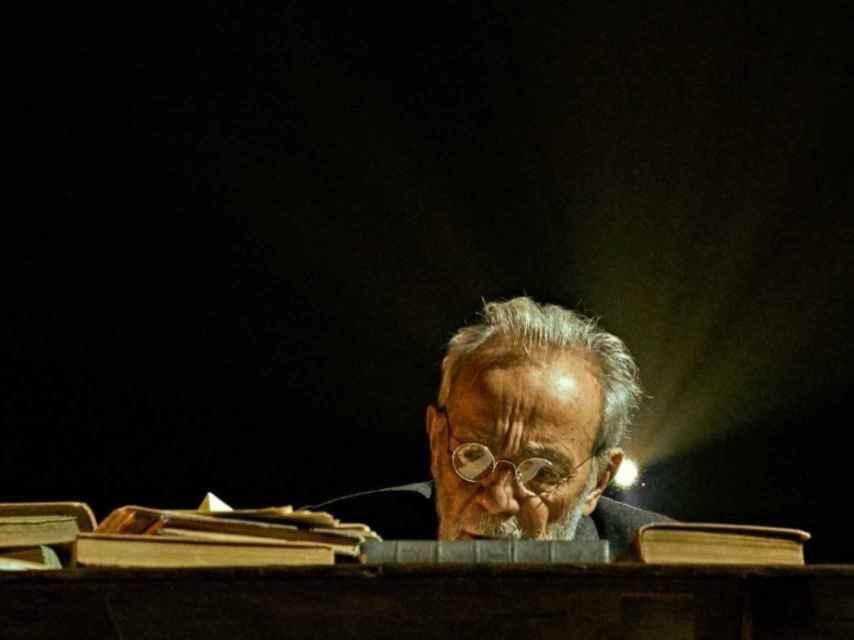 José Luis Gómez en su obra Unamuno: venceréis pero no convenceréis, en el Teatro de la Abadía.