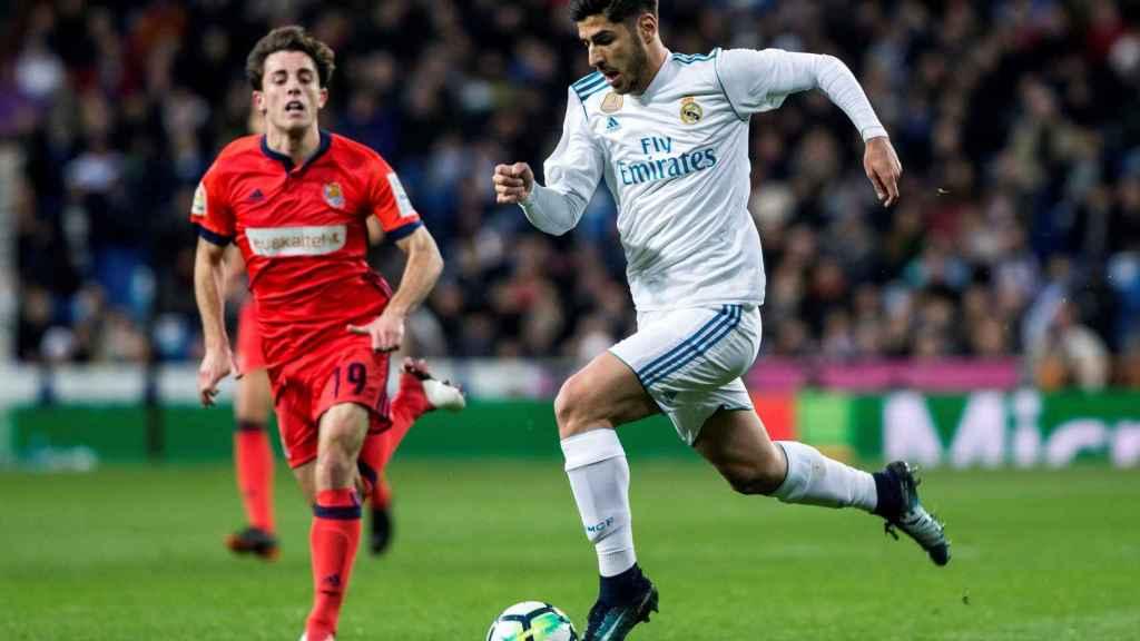 Marco Asensio, en el último partido de Liga ante la Real Sociedad.