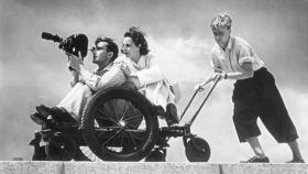 La cineasta en pleno rodaje de los Juegos Olímpicos de Berlín de 1936.