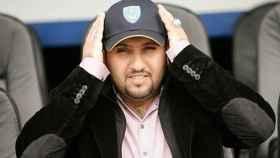Sulaiman Al-Fahim, con la camiseta del Portsmouth.