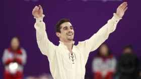 Javier Fernández, tras completar un programa