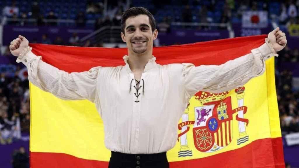 Javier Fernández, bronce en los Juegos de Invierno. Foto: Twitter (@COE_es).