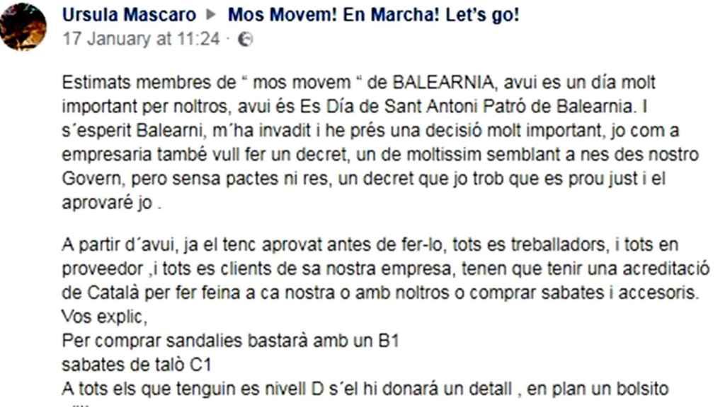 Publicación con el anuncio del primer decreto de Balearnia.