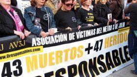 Concentración de víctimas del accidente de Metro de Valencia.
