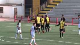 El partido entre el Paterna y Castellón.