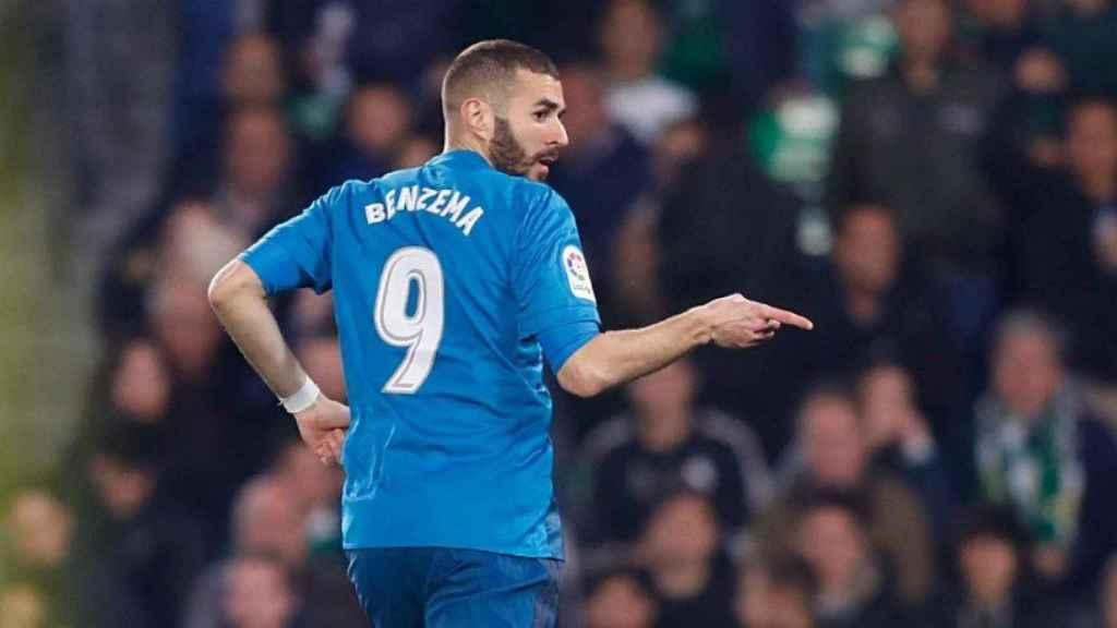 Benzema. en el Betis-Real Madrid
