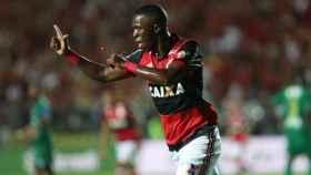 Vinicius celebra un gol. Foto Twitter (@Flamengo)