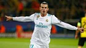 Gareth Bale marca el primer gol del Madrid ante el Dortmund.