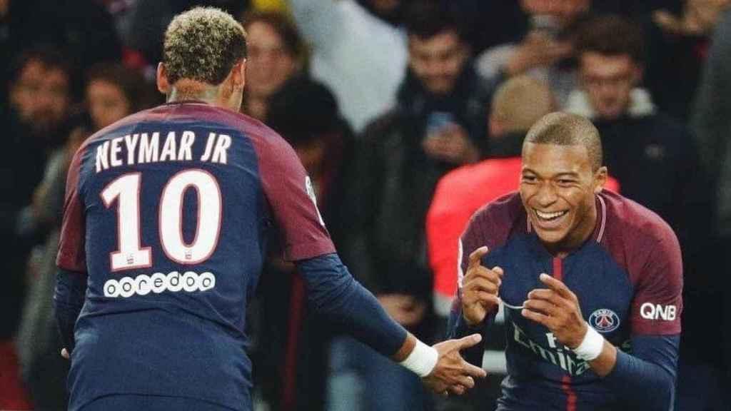 Mbappé y Neymar. Foto: Twitter (@KMbappe)