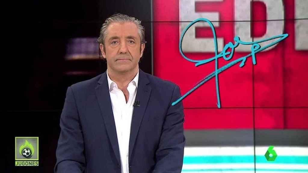 Josep Pedrerol, en Jugones. Foto:Twitter (@elchiringuitotv)