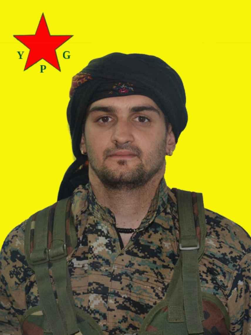 Samuel Prada, en una imagen difundida desde la web del YPG.