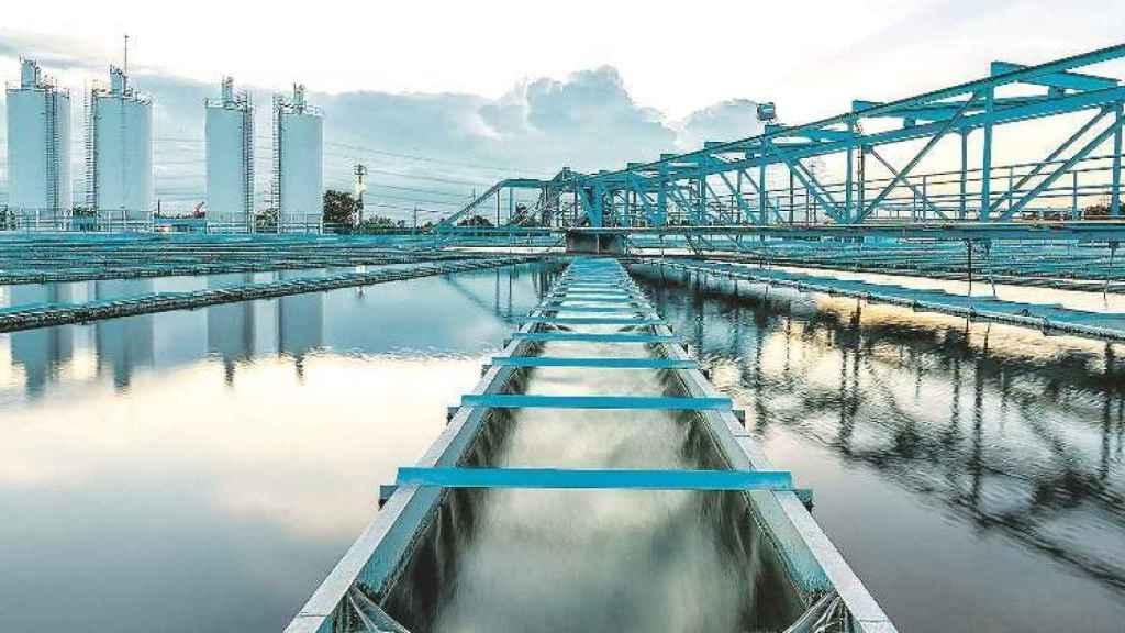 Planta de tratamiento de aguas del Grupo Suez.