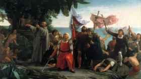 'Desembarco de Colón', por Dióscoro Puebla (1862)