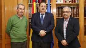 Carlos Martín-Fuertes, Jesús Fernández Vaquero y Carlos del Valle, de izquierda a derecha