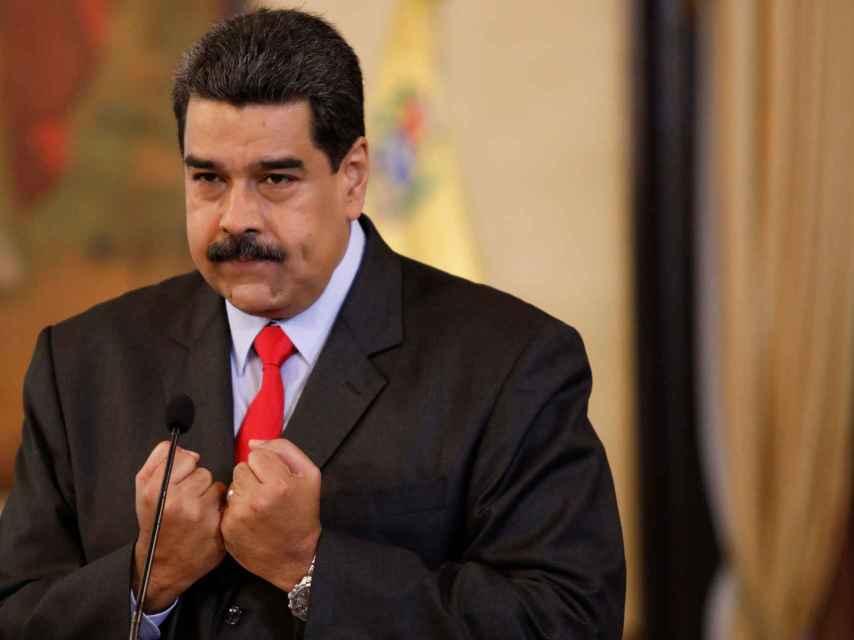 Nicolás Maduro en una rueda de prensa en Caracas