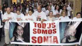 Manifestación en Pontevedra en recuerdo de Sonia.