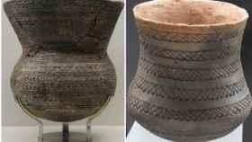 Dos vasos campaniformes del yacimiento de Los Millares.
