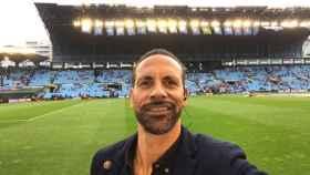 Ferdinand en Balaídos. Foto: Twitter (@rioferdy5)