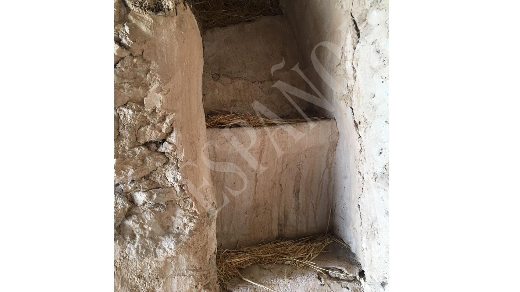 El acceso al pajar donde se escondía Igor 'el Ruso'