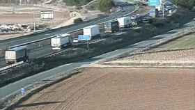 retencion atasco a6 tordesillas valladolid camion 1