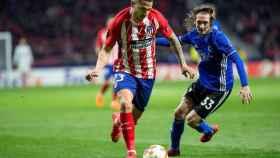 Vitolo, durante el partido contra el Copenhague.