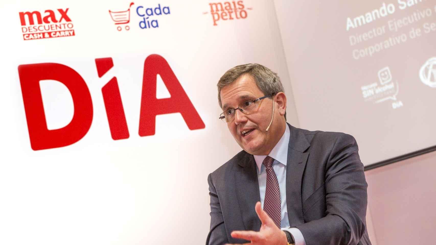 El exconsejero delegado de Dia, Ricardo Currás, durante la presentación de resultados 2017.