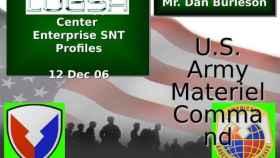 Una de las diapositivas usadas por el Pentágono