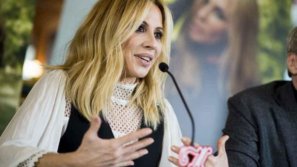 Marta Sánchez durante una rueda de prensa.