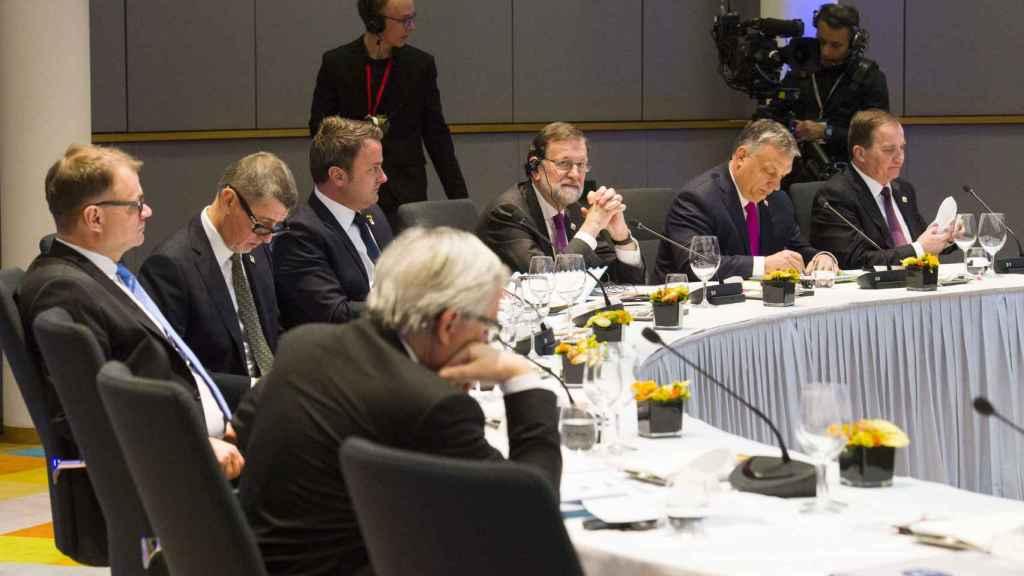 El presidente Mariano Rajoy, durante la cumbre informal de Bruselas