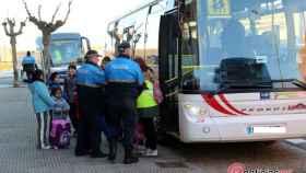 transporte escolar policia