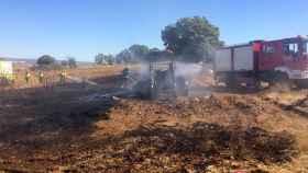 zamora incendio tractor san vitero bomberos aliste diputacion 1