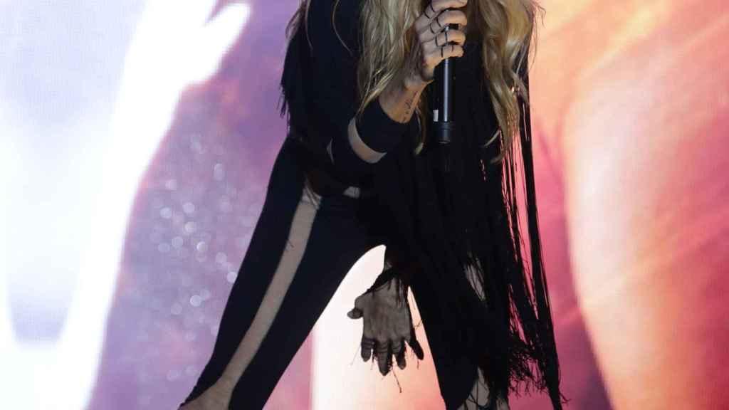 Marta Sánchez durante un concierto.