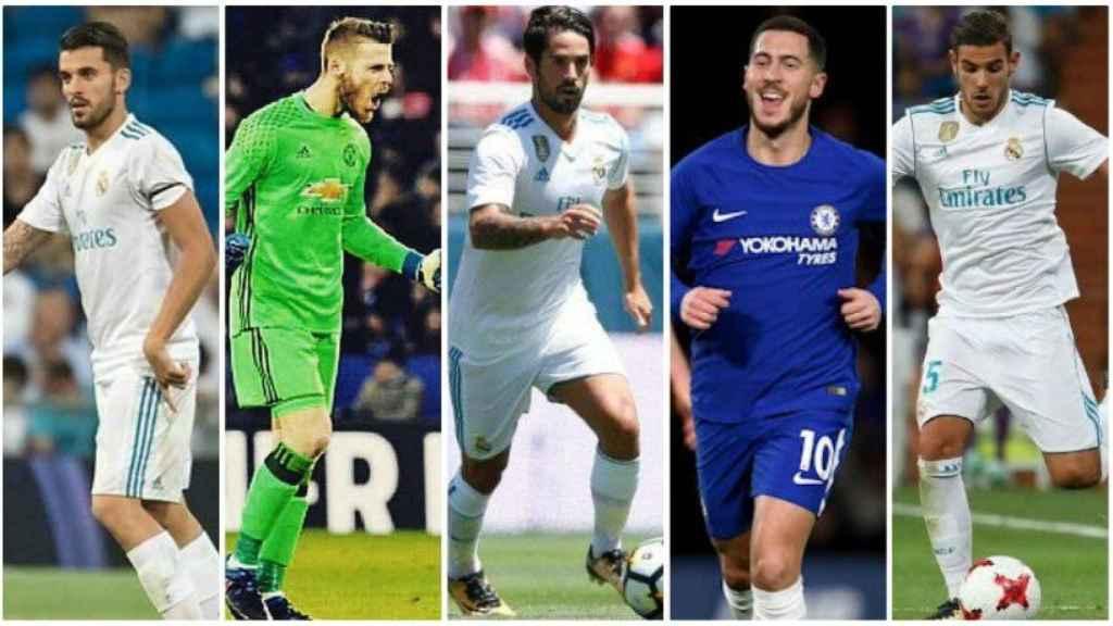 Ceballos, De Gea, Isco, Hazard y Theo Hernández